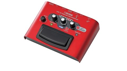 The footswitch allows you to bring the harmonies in and out or bypass the unit altogether
