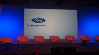 Ford's automotive AppLink partners line up on stage