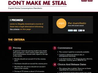 'Don't make me steal', beg the film-lovers