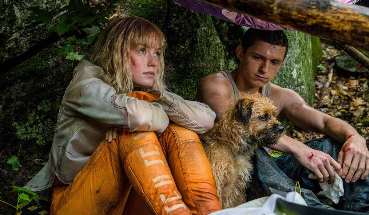 Daisy Ridley and Tom Holland in Chaos Walking