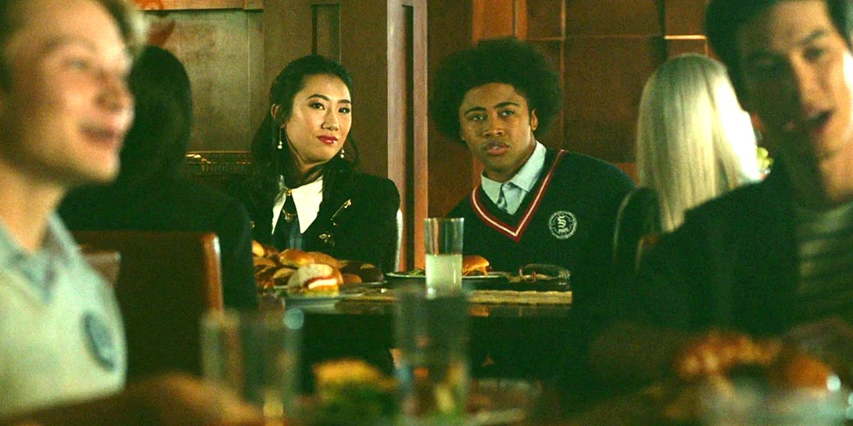 "Legacies Season 2 Olivia Liang as Alyssa Chang with Quincy Fouse as Milton ""MG"" Greasley The CW"