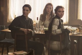 """metadata.caption_abstract:""""(L-R): Melina (Rachel Weisz), Black Widow/Natasha Romanoff (Scarlett Johansson) and Yelena (Florence Pugh) in Marvel Studios' BLACK WIDOW, in theaters and on Disney+ with Premier Access. Photo by Jay Maidment. ©Marvel Studios 2021. All Rights Reserved."""""""