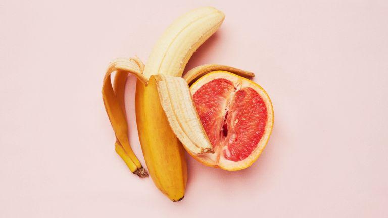 banana and grapefruit
