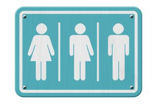 Gender identity bathroom sign