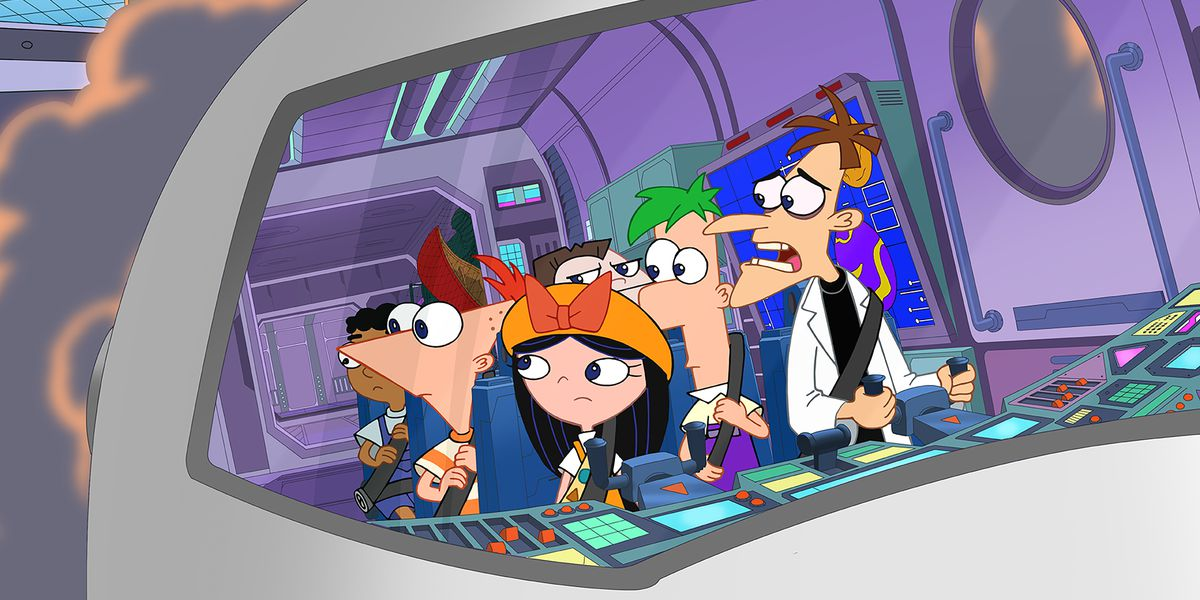 Some of the main cast in Phineas and Ferb The Movie: Candace Against The Universe on Disney+.