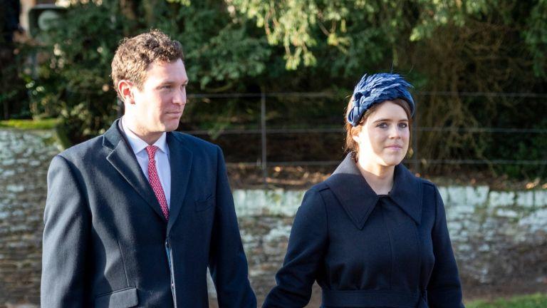 Princess Eugenie and Jack Brooksbank at church