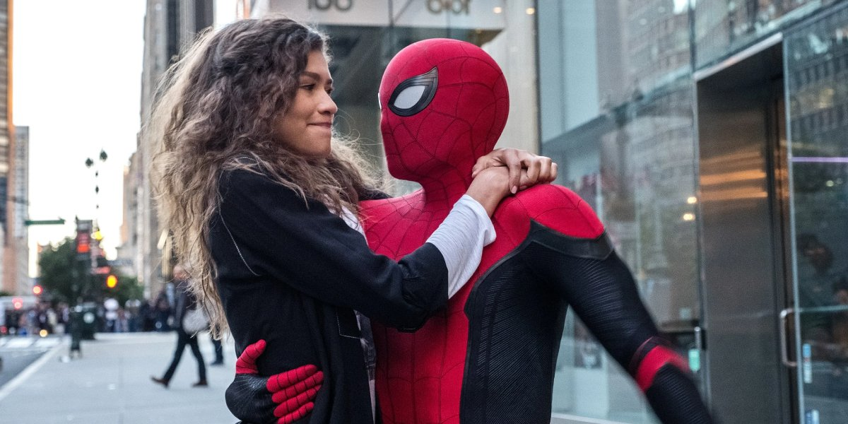 Zendaya and Tom Holland in Spider-Man: Far From Home