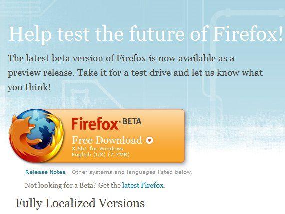 Mozilla announces Firefox 3.6 Beta 1 for download   TechRadar