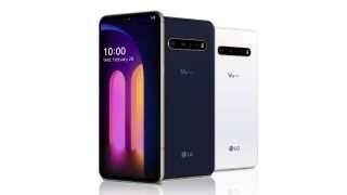LG V60 ThinQ 5G from front and back