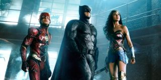 Flash, Batman and Wonder Woman in Justice League movie