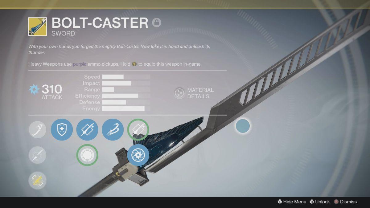 How to get an Exotic sword in Destiny - Raze Lighter, Dark Drinker, Bolt Caster