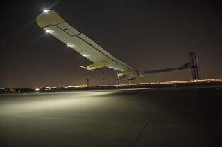 Solar Impulse Plane Lands in Dallas