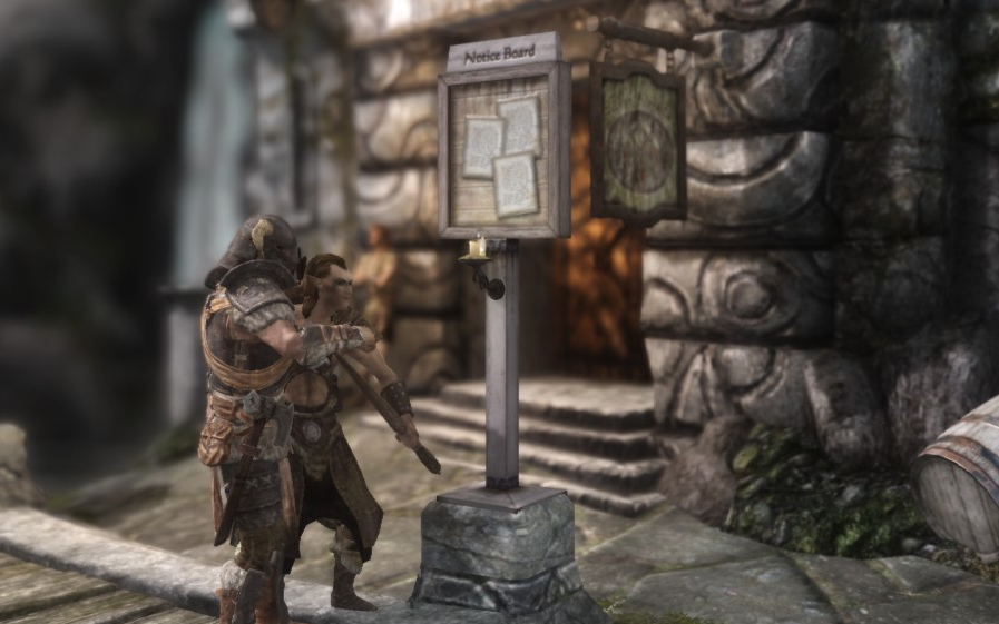 the best skyrim mods: the notice board