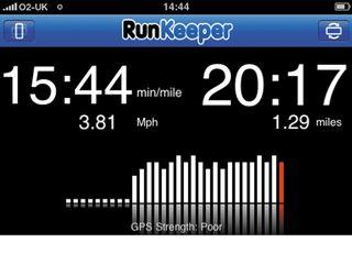 RunKeeper Graph