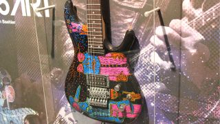 Model number F1503550 - one of 50 special hand-illustrated Ibanez JS guitars