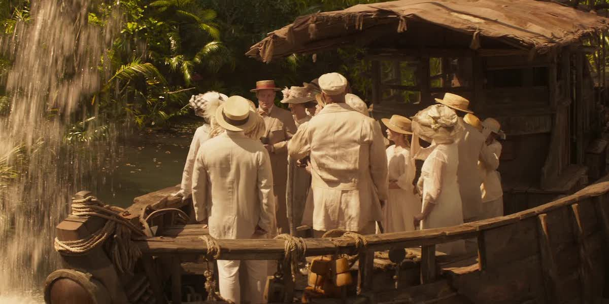 Jungle Cruise backside of water pun scene
