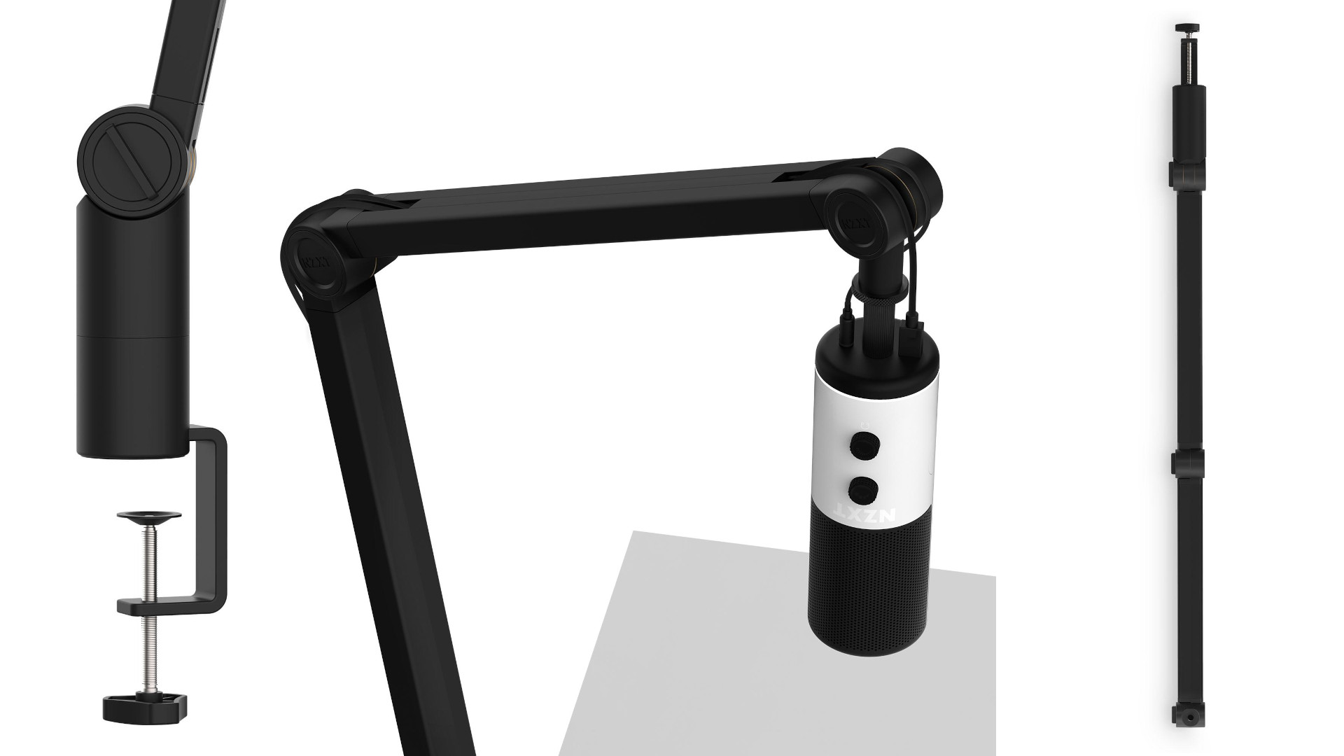 Press images of the NZXT Capsule Boom Arm