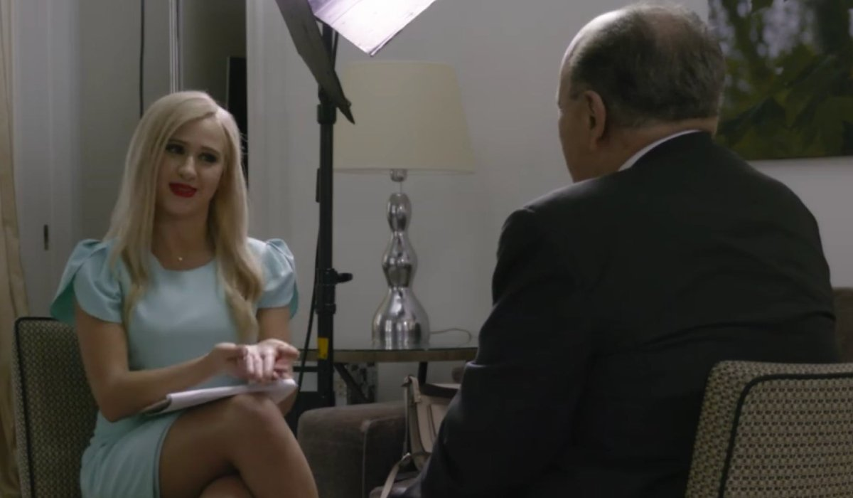 Rudy Giulianin in a scene from Borat 2020