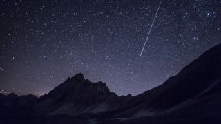Photograph the ISS: Image shows ISS trail above mountains