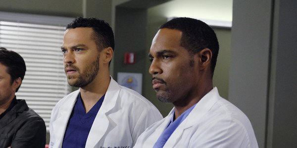 Jackson and Warren in Grey's Anatomy