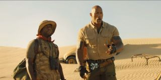 Kevin hart and the rock in Jumanji: The Next Level