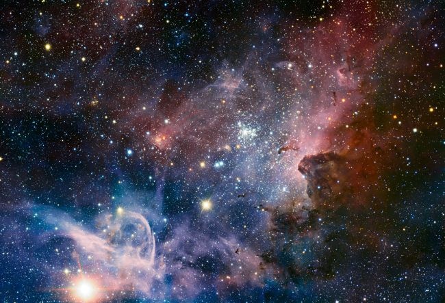 Infrared view of the Carina Nebula.