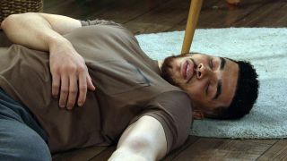 Nate faints in Emmerdale