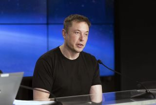 SpaceX founder and CEO Elon Musk discusses the company's successful Falcon Heavy rocket test launch on Feb. 6, 2018. On Sept. 27, the U.S. Securities and Exchange Commission filed fraud charges against Musk, based on statements he made about perhaps takin