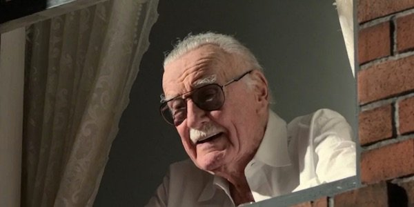 Stan Lee out a window