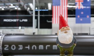 The gnome that's going to space.
