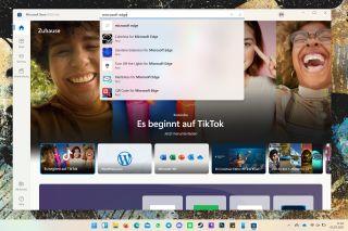 Windows 11 mit Microsoft Edge Erweiterungen im Microsoft Store