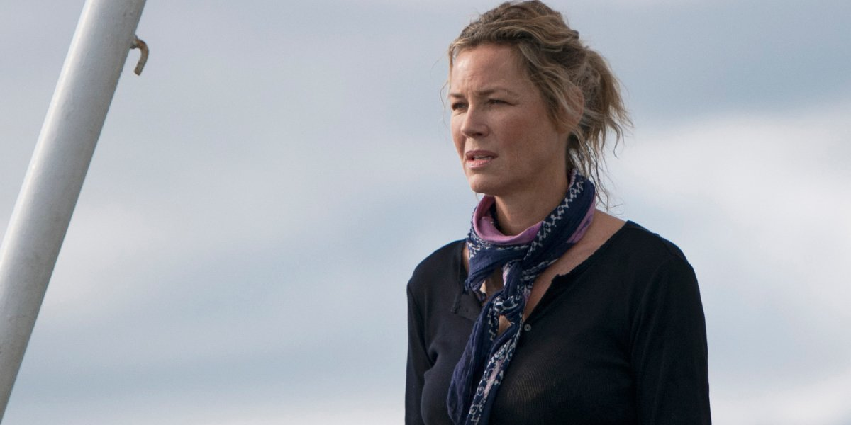 Sea Fever Connie Nielsen standing in front of an open sky