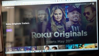 The Roku Channel in a web browser on Windows