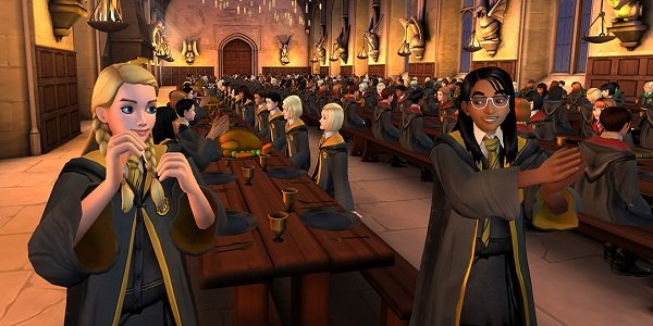 Students celebrate Harry Potter: Hogwarts Mystery