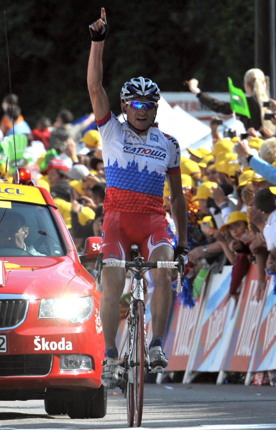 tour de france, 2009 tour de france, stage 14, tour, besancon, george hincapie, serguei ivanov, stage win, katusha, columbia htc
