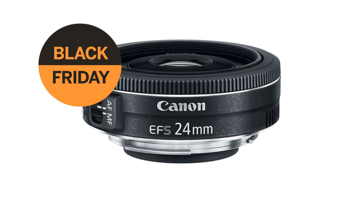 Black Friday prices today! The Canon EF-S 24mm f/2.8 STM Wide Angle Lens is $99!