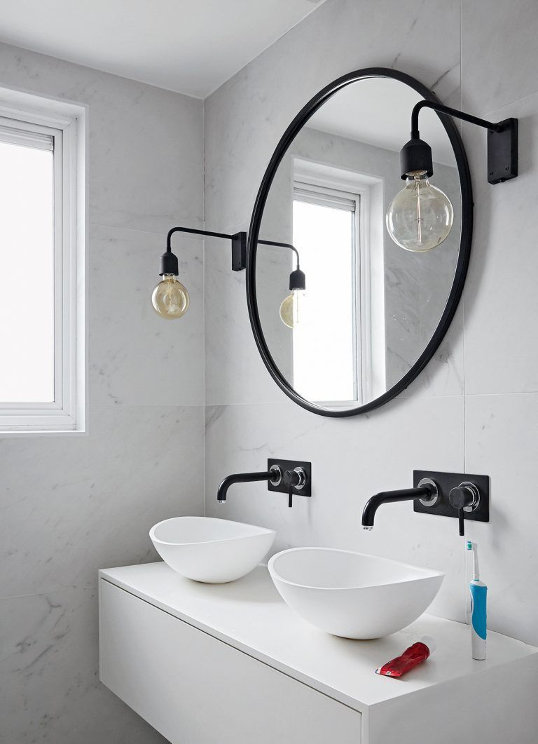 Black and white bathroom ideas for a modern, monochrome look