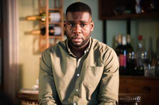 Isaac Baptiste is worried in EastEnders