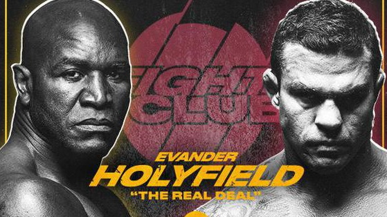 Poster for the Holyfield vs Belfort fight