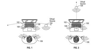 Apple's patent for a virtual acoustic audio system