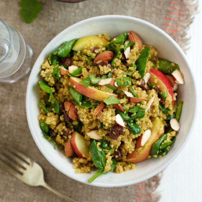Photo of a Curried Quinoa with Apple & Spinach Recipe