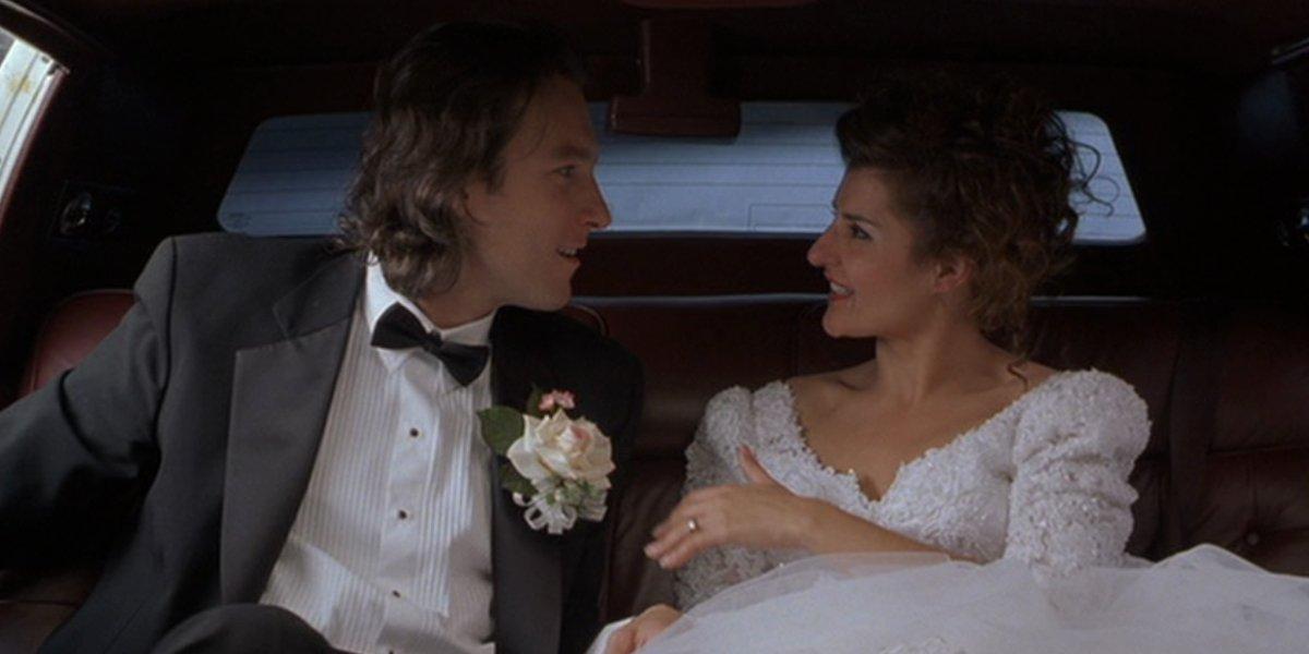 John Corbett and Nia Vardalos in My Big Fat Greek Wedding