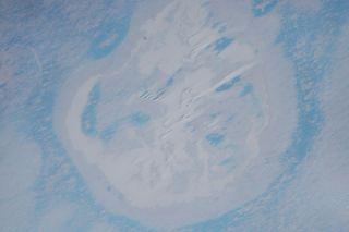 Antarctica crater