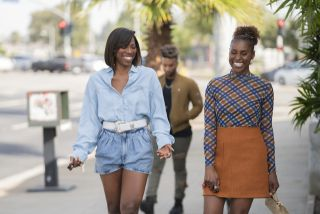 'Insecure' stars Yvonne Orji (R) and Issa Rae