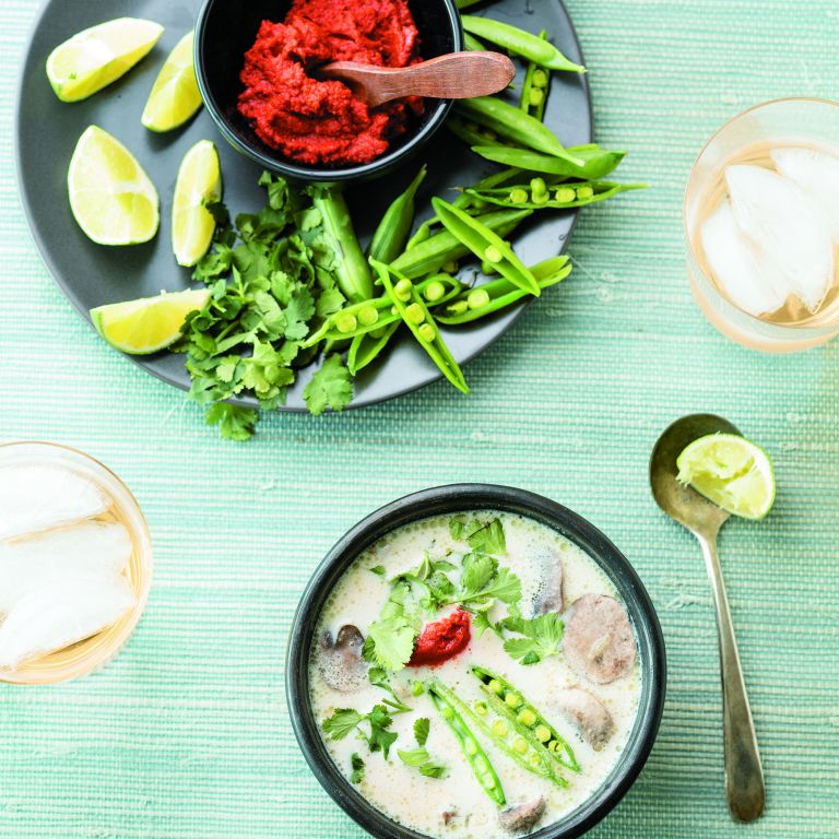 Photo of thai ginger-chicken soup