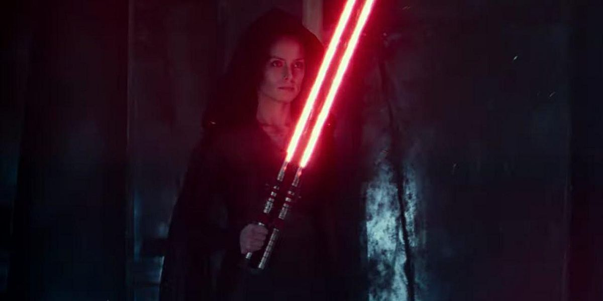 Rey with red lightsaber