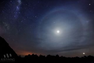 Milky Way and Lunar Halo Over Malaysia.