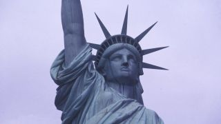 A close-up of The Statue Of Liberty