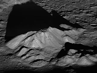 Shadows on the moon's tycho crater