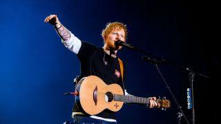 Ed Sheeran performs live